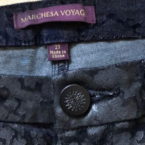 Marchesa Pants - Marchesa voyage flocked skinny ankle pants size 27
